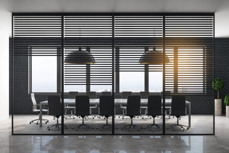 Solombra raamdecoratie aluminium jaloezieen kantoor